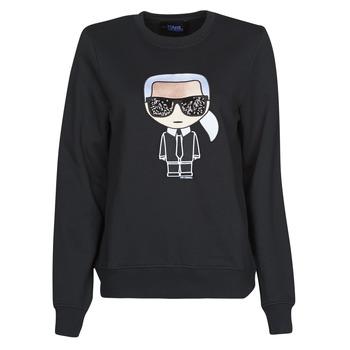 Kleidung Damen Sweatshirts Karl Lagerfeld IKONIK KARL SWEATSHIRT Schwarz