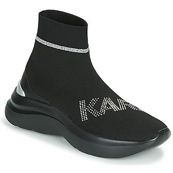 Schuhe Damen Sneaker High Karl Lagerfeld SKYLINE KARL RHINESTONE PULL ON BT Schwarz