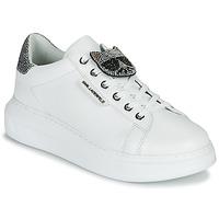 Schuhe Damen Sneaker Low Karl Lagerfeld KAPRI IKONIC TWIN LO LACE Weiss / Silber