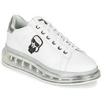 Schuhe Damen Sneaker Low Karl Lagerfeld KAPRI KUSHION KARL IKONIC LO LACE Weiss / Silbern