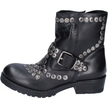 Schuhe Damen Low Boots Brawn's stiefeletten leder schwarz