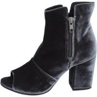 Schuhe Damen Low Boots Lemaré stiefeletten samt grau
