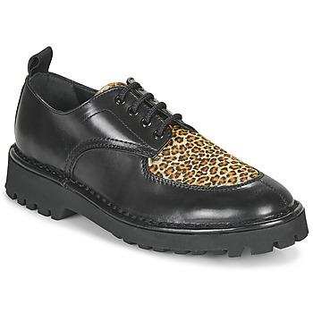 Schuhe Damen Derby-Schuhe Kenzo K MOUNT Schwarz / Leopard
