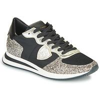 Schuhe Damen Sneaker Low Philippe Model TROPEZ X BASIC Schwarz / Silbern