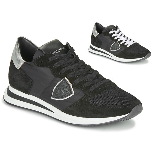 Schuhe Damen Sneaker Low Philippe Model TROPEZ X BASIC Schwarz / Silbern