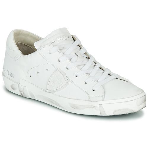 Schuhe Damen Sneaker Low Philippe Model PARIS X BASIC Weiss