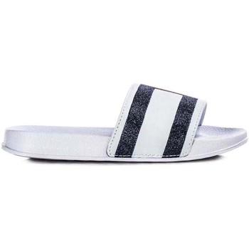 Schuhe Pantoletten Tommy Hilfiger Kids FLAG PRINT POOL SLIDE weiß