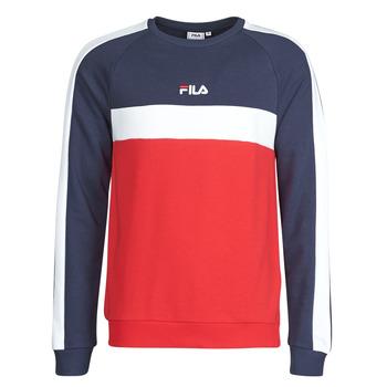 Kleidung Herren Sweatshirts Fila CREW SWEATER Blau / Weiss / Rot