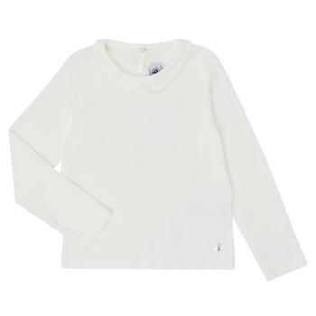 Kleidung Mädchen Langarmshirts Petit Bateau LOVING Weiss