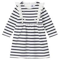 Kleidung Mädchen Kurze Kleider Petit Bateau LEVRIER Weiss / Marine