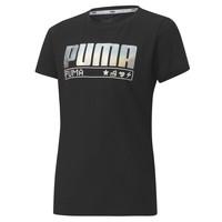 Kleidung Mädchen T-Shirts Puma ALPHA TEE 165 Schwarz