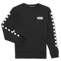 Kleidung Jungen Sweatshirts Vans EXPOSITION CHECK CREW Schwarz