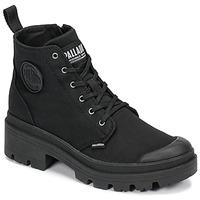 Schuhe Damen Boots Palladium PALLABASE TWILL Schwarz