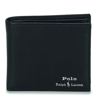 Taschen Herren Portemonnaie Polo Ralph Lauren GLD FL BFC-WALLET-SMOOTH LEATHER Schwarz