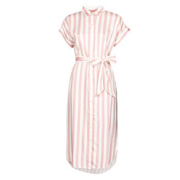Kleidung Damen Maxikleider Lauren Ralph Lauren CICERO Weiss / Rose
