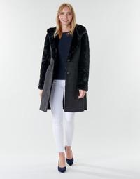 Kleidung Damen Mäntel Lauren Ralph Lauren COMBO FX SH-COAT Schwarz