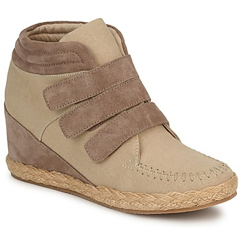 Schuhe Damen Sneaker High No Name SPLEEN STRAPS Beige / Maulwurf