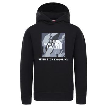 Kleidung Jungen Sweatshirts The North Face NEW BOX CREW HODDIE Schwarz