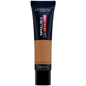 Beauty Damen Make-up & Foundation  L'oréal Infaillible 24h Matte Cover Foundation 330-hazelnut