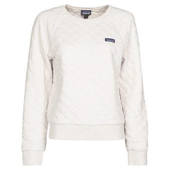 Kleidung Damen Sweatshirts Patagonia W'S ORGANIC COTTON QUILT CREW Naturfarben