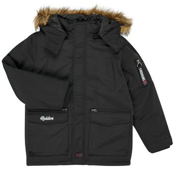Kleidung Jungen Parkas Redskins REF-48105 Schwarz