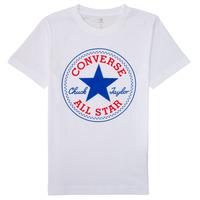 Kleidung Jungen T-Shirts Converse CORE CHUCK PATCH TEE Weiss