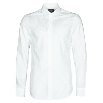 Kleidung Herren Langärmelige Hemden G-Star Raw DRESSED SUPER SLIM SHIRT LS Weiss