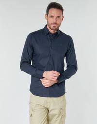 Kleidung Herren Langärmelige Hemden G-Star Raw DRESSED SUPER SLIM SHIRT LS Blau