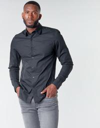 Kleidung Herren Langärmelige Hemden G-Star Raw DRESSED SUPER SLIM SHIRT LS Schwarz