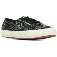 Schuhe Damen Sneaker Low Superga 2750 Macramemetw Schwarz