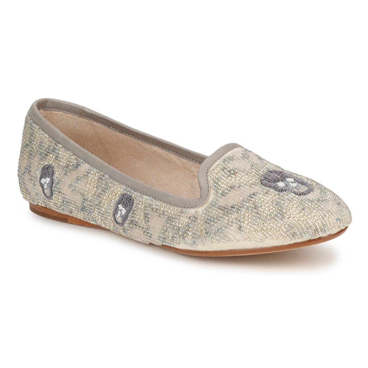 House of Harlow 1960 ZENITH Beige / Grau - Kostenloser Versand bei Spartoode ! - Schuhe Slipper Damen 132,50 €