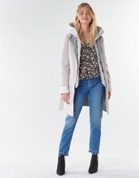 Kleidung Damen Mäntel Oakwood LILIANA BI Elfenbein / Grau