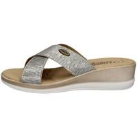 Schuhe Damen Pantoffel Tiglio 3193 SILVER