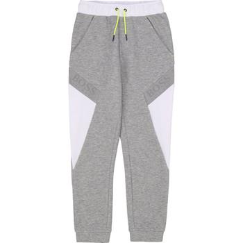 Kleidung Jungen Jogginghosen BOSS J24664 Grau