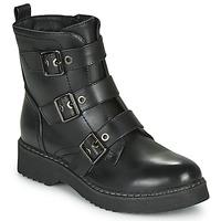 Schuhe Damen Boots Spot on F51069 Schwarz