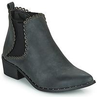 Schuhe Damen Low Boots Spot on F50939 Schwarz