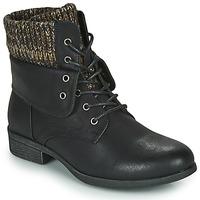 Schuhe Damen Boots Spot on F50613 Schwarz