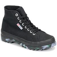Schuhe Damen Sneaker High Superga 2341 ALPINA MARBLEGUM Schwarz