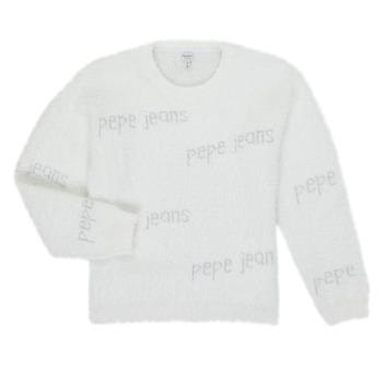 Kleidung Mädchen Pullover Pepe jeans AUDREY Weiss