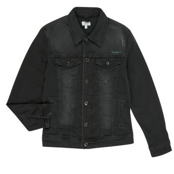 Kleidung Jungen Jeansjacken Pepe jeans LEGENDARY Schwarz