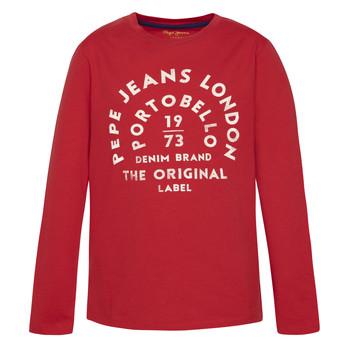 Kleidung Jungen Langarmshirts Pepe jeans ANTONI Rot
