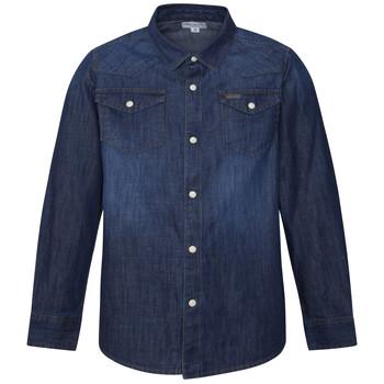 Kleidung Jungen Langärmelige Hemden Pepe jeans JHON Blau