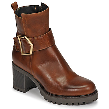 Schuhe Damen Low Boots Sweet Lemon PIRLOU Cognac