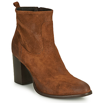 Schuhe Damen Low Boots Sweet Lemon IDIA Cognac