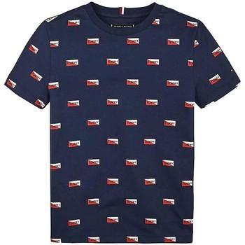 Kleidung Jungen T-Shirts Tommy Hilfiger Kids PRINTED SHIELDS TEE blue