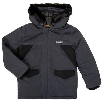 Kleidung Jungen Parkas Timberland T26525 Grau