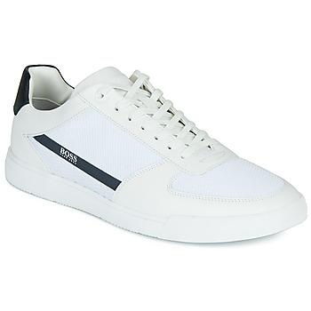 Schuhe Herren Sneaker Low BOSS COSMOPOOL TENN MXME Weiss