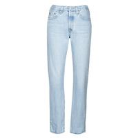Kleidung Damen Boyfriend Jeans Levi's 501 CROP Weiss / himmelblau / Ra