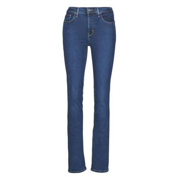 Kleidung Damen Straight Leg Jeans Levi's 724 HIGH RISE STRAIGHT Blau