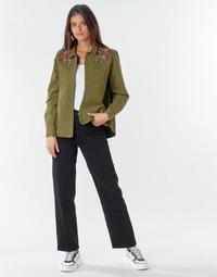 Kleidung Damen Straight Leg Jeans Levi's RIBCAGE STRAIGHT ANKLE Schwarz / Black multi wf sde